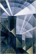 Vinilo para la pared  The First Searchlights at Charing Cross - Christopher Nevinson