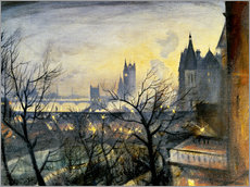 Vinilo para la pared  London Twilight from the Adelphi - Christopher Nevinson