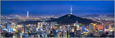 Cuadro de plexi-alu  Seoul panorama at night overlooking Namsan and N Seoul Tower - Jan Christopher Becke