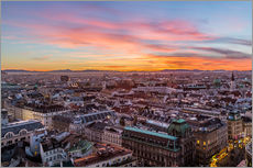 Vinilo para la pared  Vienna Skyline at sunset, Austria - Mike Clegg Photography