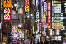 Vinilo para la pared  Colorful neon signs in Shinjuku district in Tokyo, Japan - Jan Christopher Becke