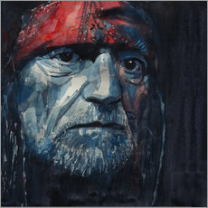 Cuadro de plexi-alu  Always On My Mind - Willie Nelson - Paul Lovering