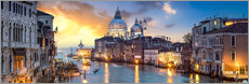 Vinilo para la pared  Canal Grande panorama in Venice, Italy - Jan Christopher Becke