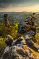 Vinilo para la pared  Saxon Switzerland - Sunset - Mikolaj Gospodarek