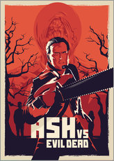 Vinilo para la pared  Ash Vs the evil dead - Fourteenlab