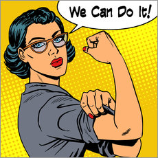 Vinilo para la pared We can do it! popart