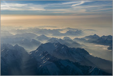 Cuadro de plexi-alu  Zugspitze in the haze - Denis Feiner