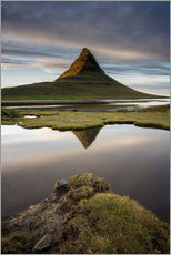 Vinilo para la pared  Peaceful Sunset Kirkjufell - Sander Grefte