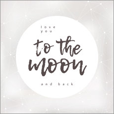 Vinilo para la pared  To the moon and back - Typobox