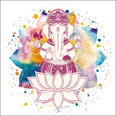 Cuadro de plexi-alu  Ganesha in watercolors
