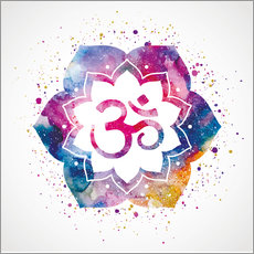 Vinilo para la pared  Namaste watercolor flower
