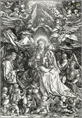 Cuadro de plexi-alu  The Virgin and Child surrounded by angels - Albrecht Dürer