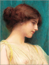 Cuadro de plexi-alu  Study of a Girl's Head - John William Godward