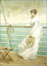 Cuadro de plexi-alu  Lady on the Deck of a Ship - French School