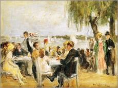 Cuadro de plexi-alu  Garden Cafe on the Elbe - Max Liebermann