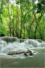 Vinilo para la pared Waterfall in forest of Thailand