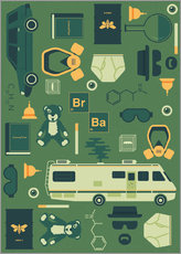 Cuadro de plexi-alu  Breaking Bad - Tracie Andrews