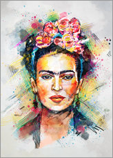Vinilo para la pared Frida Flower Pop