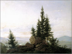 Vinilo para la pared  View into the Elbe valley - Caspar David Friedrich