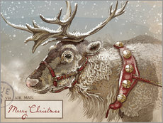 Cuadro de plexi-alu  Air Mail Christmas Reindeer - Ashley Verkamp