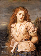Vinilo para la pared  The Martyr of the Solway - Sir John Everett Millais