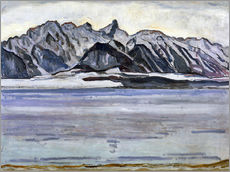 Vinilo para la pared  Stockhorn Range in Winter - Ferdinand Hodler