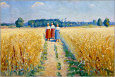 Cuadro de plexi-alu  Three women on a path - Kasimir Sewerinowitsch  Malewitsch