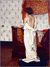 Vinilo para la pared  Getting Dressed - Felix Edouard Vallotton