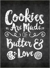 Vinilo para la pared cookies are made with love