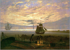 Cuadro de plexi-alu  Evening at the Baltic Sea - Caspar David Friedrich