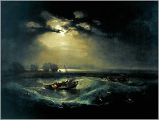 Vinilo para la pared  Pescador en el lago - Joseph Mallord William Turner