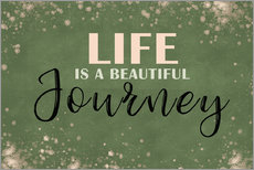 Vinilo para la pared  Life is a beautiful journey - Dani Wijeyesinghe