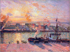 Vinilo para la pared  Sunset at Rouen - Camille Pissarro
