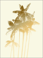 Vinilo para la pared  Palm trees design poster - tobacco - Alex Saberi