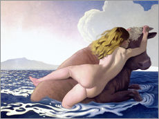 Vinilo para la pared  The Abduction of Europa - Felix Edouard Vallotton