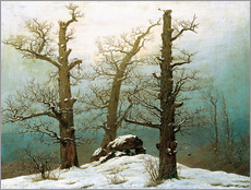 Cuadro de plexi-alu  Megalithic grave in the snow - Caspar David Friedrich