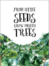 Vinilo para la pared  From little seeds grow mighty trees - RNDMS