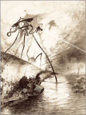 Cuadro de plexi-alu  Martian Fighting Machine in the Thames Valley - Henrique Alvim Correa