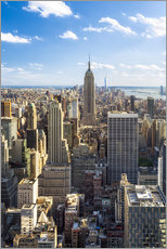 Cuadro de plexi-alu  Vista de Manhattan, Nueva York - Jan Christopher Becke