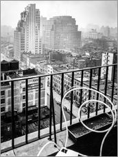 Vinilo para la pared New York: View from penthouse, 56 Seventh Avenue, Manhattan