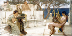 Vinilo para la pared  Sappho and Alcaeus - Lawrence Alma-Tadema