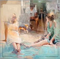 Vinilo para la pared  En la piscina - Johnny Morant