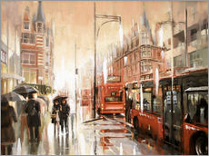 Johnny Morant - oxford st in the rain