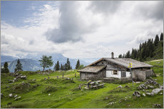 Cuadro de plexi-alu  Almhütte in Salzburg, alpine pasture in the Alps - Gerhard Wild