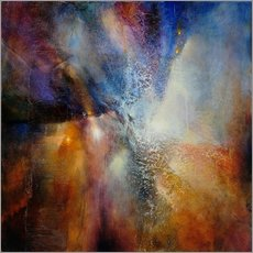 Vinilo para la pared  Composition in brown and blue - Annette Schmucker