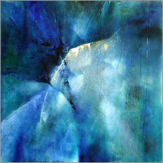 Cuadro de plexi-alu  Composition in blue - Annette Schmucker