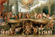 Vinilo para la pared  Mankind's Eternal Dilemma - The Choice Between Virtue and Vice - Frans Francken II