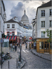 Vinilo para la pared  Streets of Montmartre and Sacre Coeur - Jan Christopher Becke