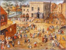 Vinilo para la pared  Children's games - Pieter Brueghel d.J.