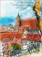 Vinilo para la pared  Pirna, View to the Church of St. Mary - Hartmut Buse